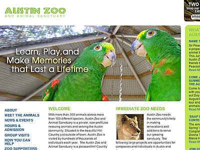 Austin Zoo and Animal Sactuary