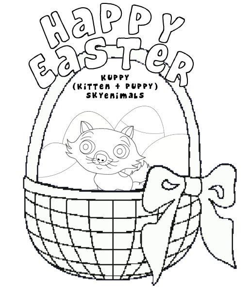 Puppy Easter Coloring Page
