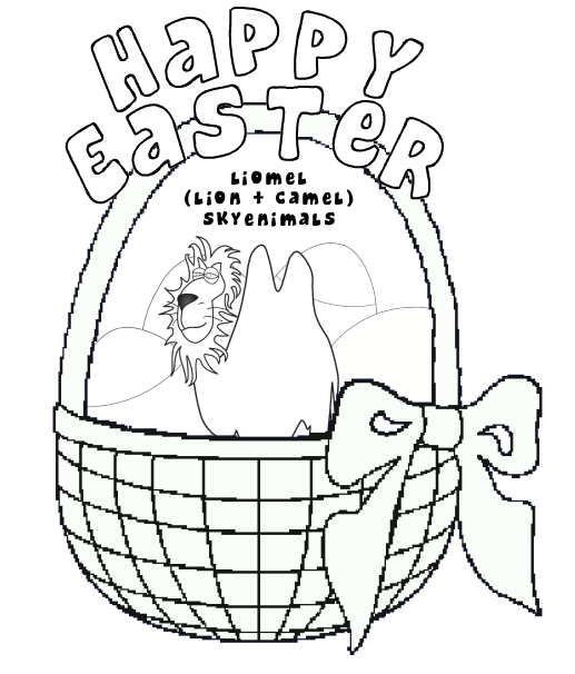 Lion Easter Coloring Page