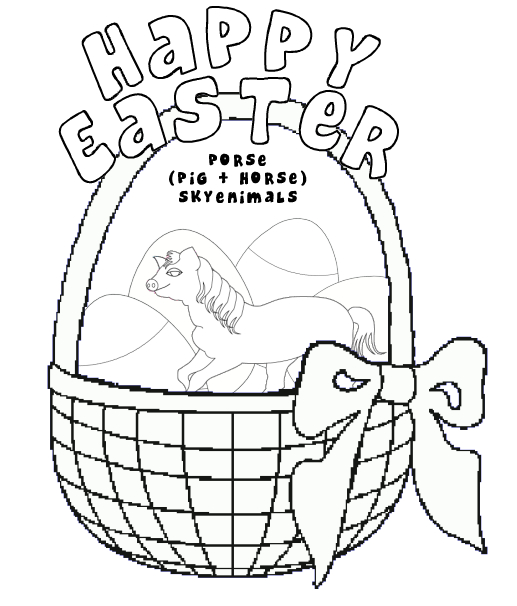 Horse Easter Coloring Page