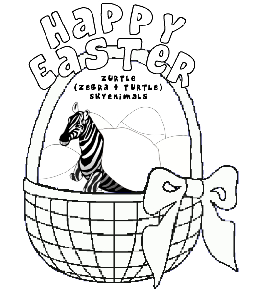Zurtle Easter Coloring Page